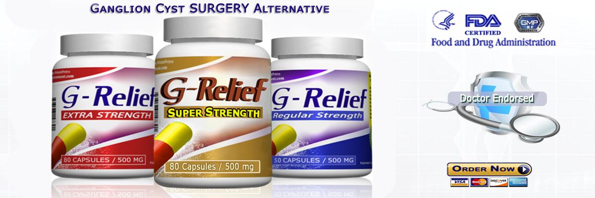 Ganglion Cyst Natural SURGERY Alternative G-Relief Caps. Info: g-relief.com